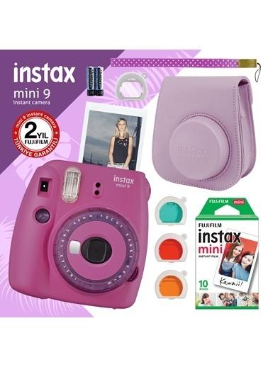Fujifilm instax mini 9 Mor Fotograf Makinesi ve Hediye Seti 3 Renkli